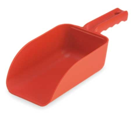 Small Hand Scoop, Poly, 32 Oz, Red