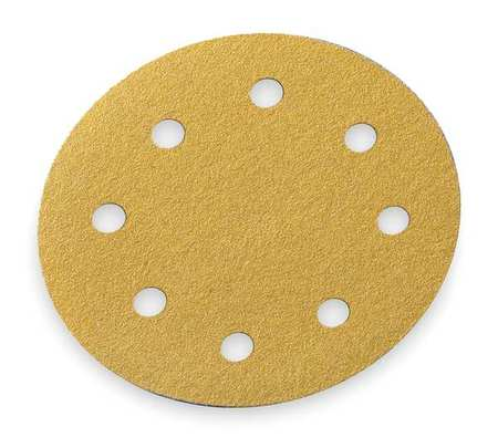 Hook/Loop Disc, 8 Hole, 5 in., P120G, AlO