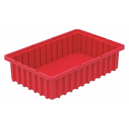 Divider Box,  16-1/2 x 10-7/8 x 4 In,  Red