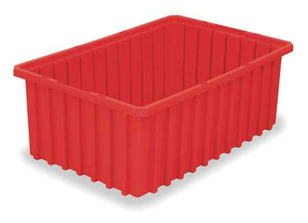 Divider Box,  16-1/2 x 10-7/8 x 6 In,  Red