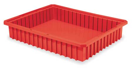 Divider Box,  22-3/8 x 17-3/8 x 4 In,  Red