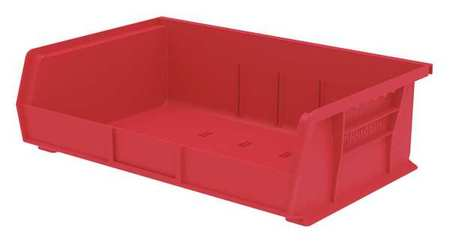 Hang/Stack Bin,  5x16 1/2x 10 7/8, Red