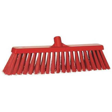 VIKAN Red Heavy-Duty Floor Broom Head