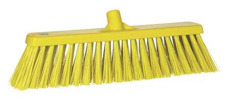 VIKAN Yellow Heavy-Duty Floor Broom Head