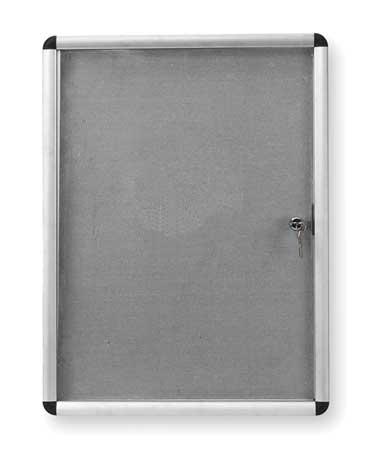 "Enclosed Magnetic Bulletin Board 36"" x 24"",  1 Door"