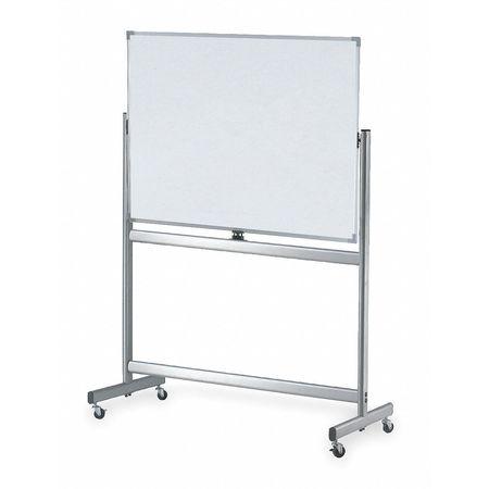 "48"" x 72"" Magnetic,  Reversible Melamine Dry Erase Board,  Mobile/Casters"