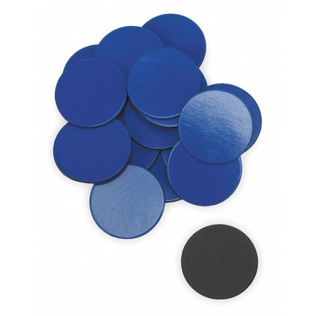 Magnets, 3/4 In Round, Blue, PK20