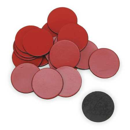 Magnets, 3/4 In Round, Red, PK20