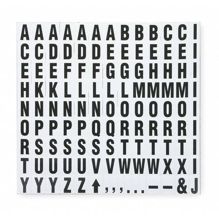 Magnets, 3/4 In H Letter/Symbols