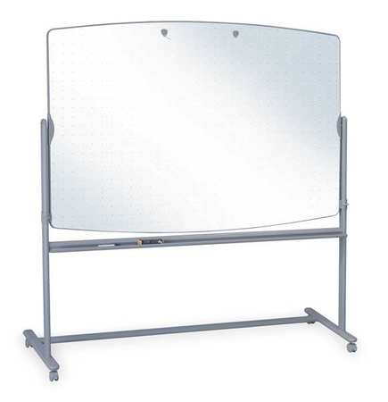 """48"""" x 72"""" Non-Magnetic,  Reversible Melamine Dry Erase Board,  Mobile/Casters"""