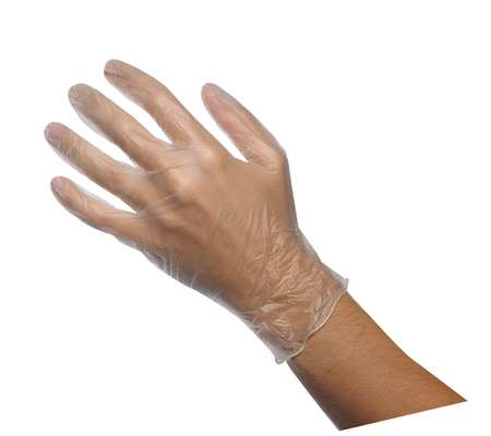 Disposable Gloves, PVC, M, Clear, PK100