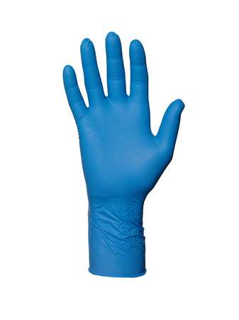 Disposable Gloves, Nitrile, XS, Blue, PK100