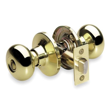 Knob Lockset, Mechanical, Privacy, Grd. 3