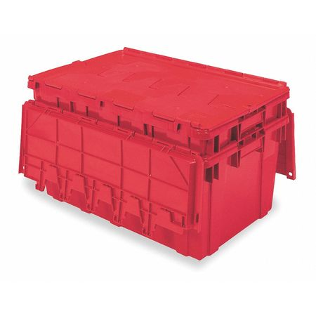 Attached Lid Container,  2.25 cu ft.,  Red