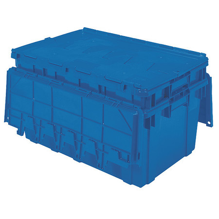 Attached Lid Container, 2.25 cu ft, Blue