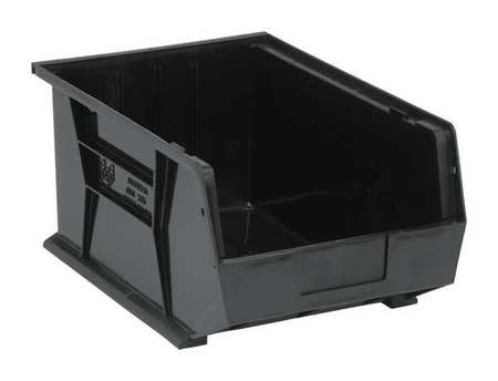 ESD Conductive Bin, 16 x 11 x 8 In, Black