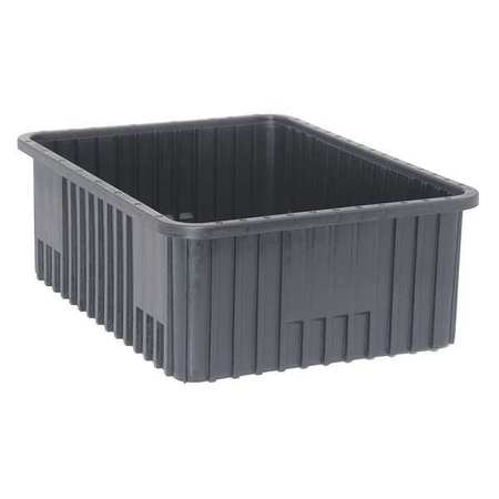 ESD Divider Box, 22-1/2x17-1/2x8 In, Black