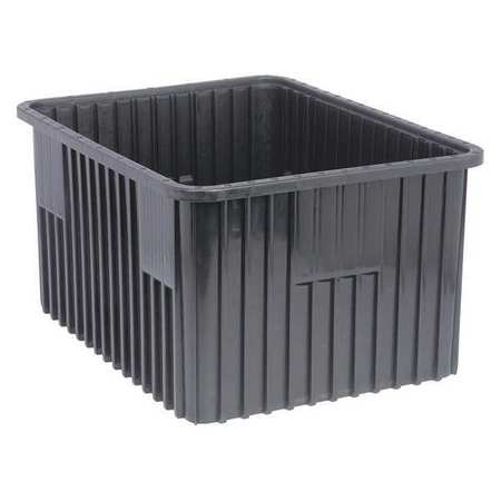 ESD Divider Box, 22-1/2x17-1/2x12In, Black
