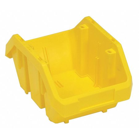 Cross-Stacking Bin, 9-1/2 In. L, Yellow