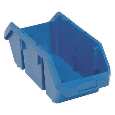 Cross-Stacking Bin, 18-1/2 In. L, Blue