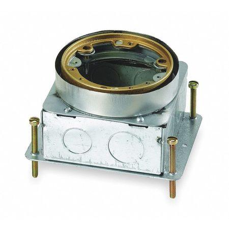 Floor Box, Steel, Round, 60.0 cu. in.