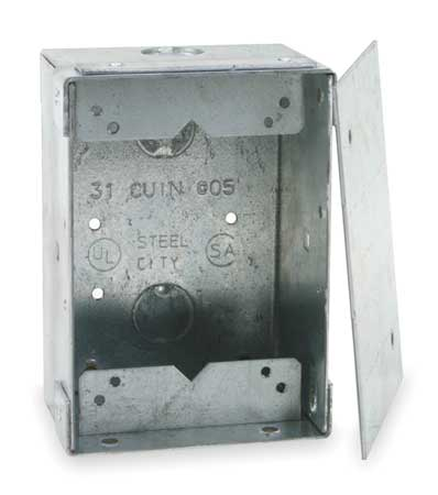 Floor Box, Steel, 31.0 cu. in.