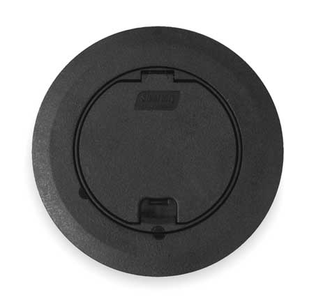 Floor Box Cover, Round, 6-3/4 in., Black