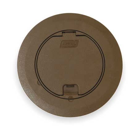 Floor Box Cover, Round, 6-3/4 in., Brown