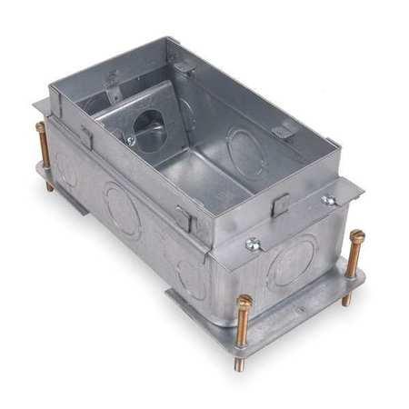 Floor Box, Steel, 90.0 cu. in.