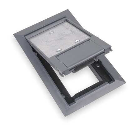 Steel city floor box cover 8 1 8 in gray 664 cst sw gry for Steel city floor boxes