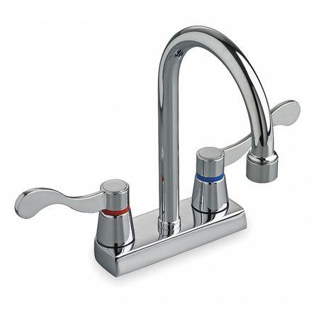 Bathroom Faucet  Spout,  Chrome,  2 or 3 Holes,  Wrist Blade Handle