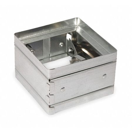 Square Fire Damper, 5-3/4 In. W, 165 Deg F
