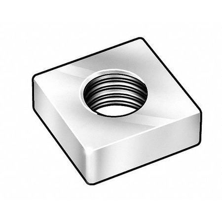#6-32 Steel Zinc Plated Finish Machine Screw Square Nut,  100 pk.