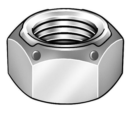 "3/4""-10 Grade C Yellow Zinc Finish Steel Deformed Thread Lock Nut,  20 pk."