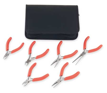 Precision Plier Set , ESD, Cushion, 6 Pcs.