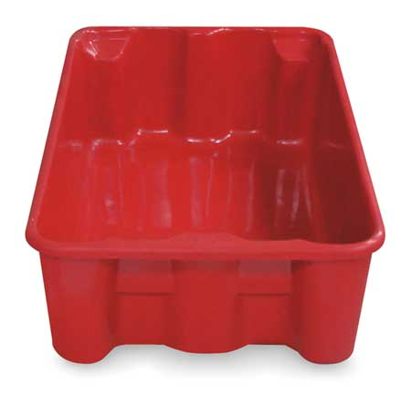 Stacking/Nesting Container, HD, Red