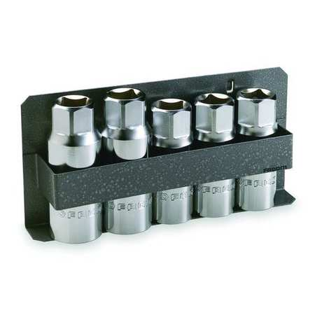 Stud Driver/Extractor Set, 5 Pc, 1/2 Dr