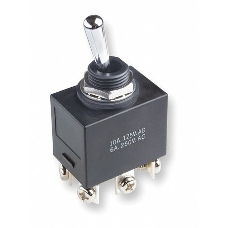 Toggle Switch, DPDT, 6A @ 250V, Screw