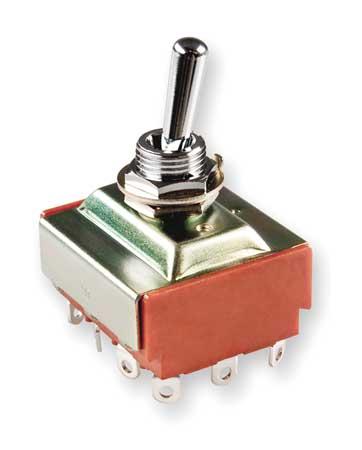 Toggle Switch, 4PDT, 6A @ 250V, Solder Lug