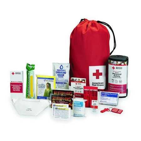 Emergency Preparedness Backpack, Red
