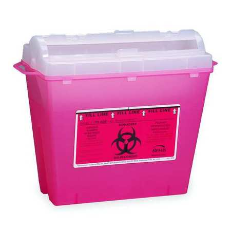 2TUW8 Sharps Container, 1-1/4 Gal., Rotor Lid