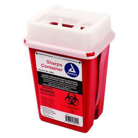 2TUW7 Sharps Container, 1/4 Gal., Sliding Lid