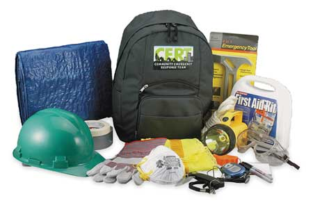 C.E.R.T. Backpack Kit, 19 Piece, Green