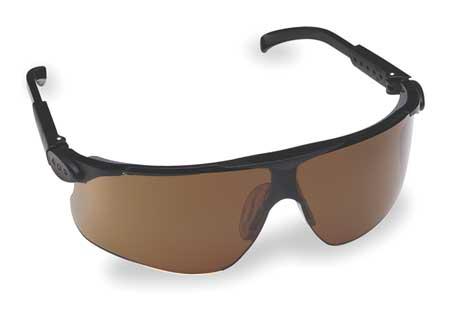 3M Bronze Safety Glasses,  Anti-Fog,  Scratch-Resistant,  Half-Frame