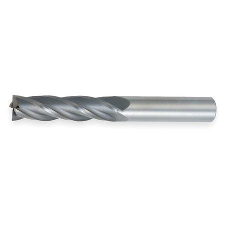 End Mill, XL, Carbide, 1/2, 4 FL, SGL Sq End