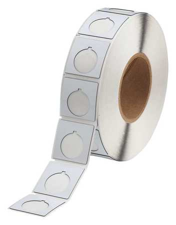 "1.800"" x 1-51/64"" White Adhesive Push Button Label"