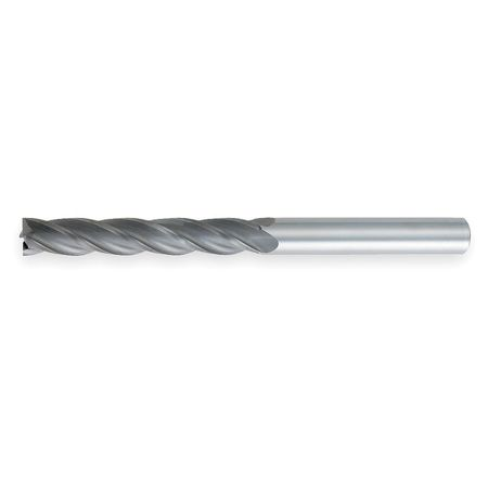 End Mill, XL, Carbide, 5mm, 4 FL, CC, SGL, Sq
