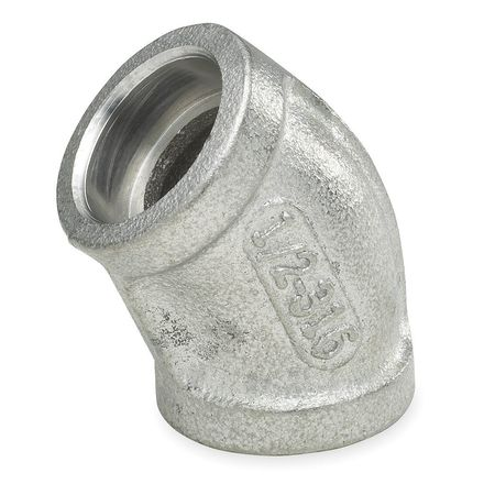 "1"" Socket Weld SS 45 Degree Elbow"
