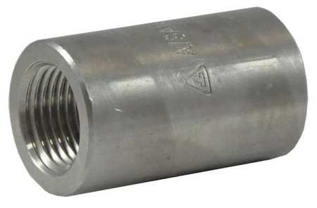 "3/8"" x 1/4"" FNPT SS Reducing Coupling"