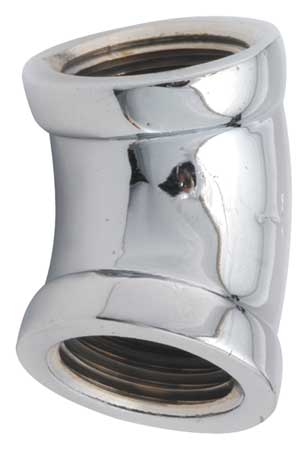 "1/2"" FNPT Chrome Plated Brass 45 Degree Elbow"
